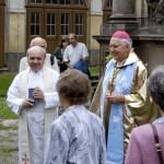 Odpustková pouť porciunkule 2008 s emeritním biskupem mons josefem kouklem v Loretě Rumburk, foto Jiří Stejskal