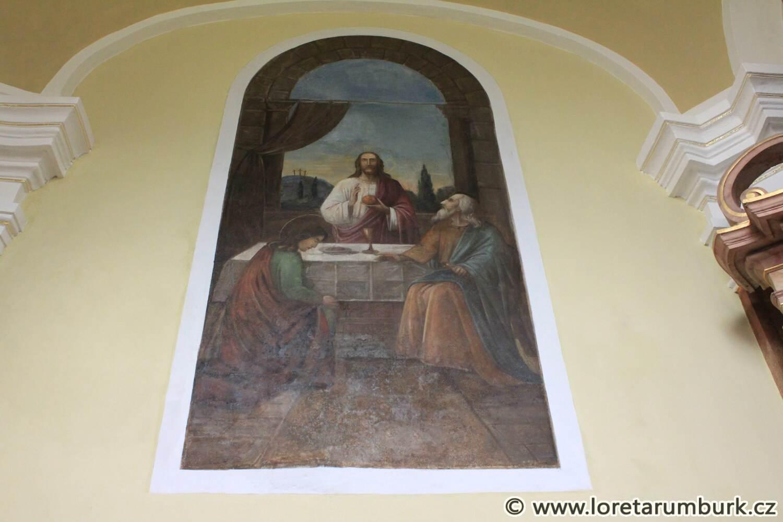 2, Loreta Rumburk, kaple Nejsv Trojice, nástěnná malba po restaurování, 17 10 2014, foto Klára Mágrová