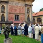 Loreta Rumburk při slavnosti Porciunkule před scénou Zvěstování Panně Marii. Foto Jiří Stejskal