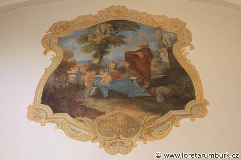 3, Loreta Rumburk, kaple sv Josefa, nástěnná malba po restaurování, 17 10 2014, foto Klára Mágrová
