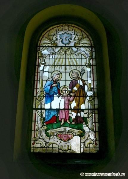 3, Vitráž, kaple Nejsvt Trojice, stav před restaurováním, foto Zdeněk Kudláček, 2005
