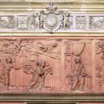 Scéna Zvěstování Panně Marii na severní stěně loretánské kaple v Rumburku. Foto Jiří Stejskal