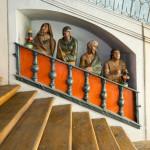 Loreta Rumburk. Kaple Svatých schodů v Rumburku. Výjev vysmívajících se Židů. Foto Jiří Stejskal
