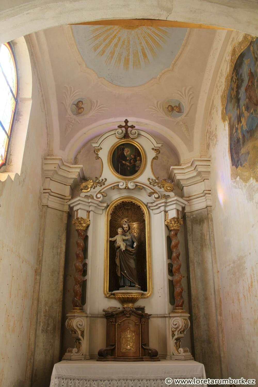 4, Ambit, Loreta v Rumburku, sekce D, kaple sv Josefa, 6 3 2012, Klára Mágrová