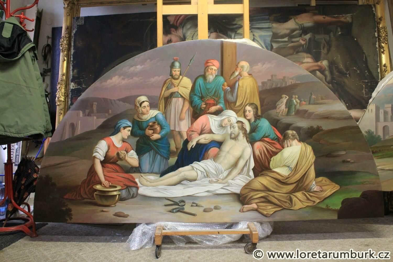 4 Loreta Rumburk - křížová cesta zastavení XIII, 21 11 2014, foto Klára Mágrová