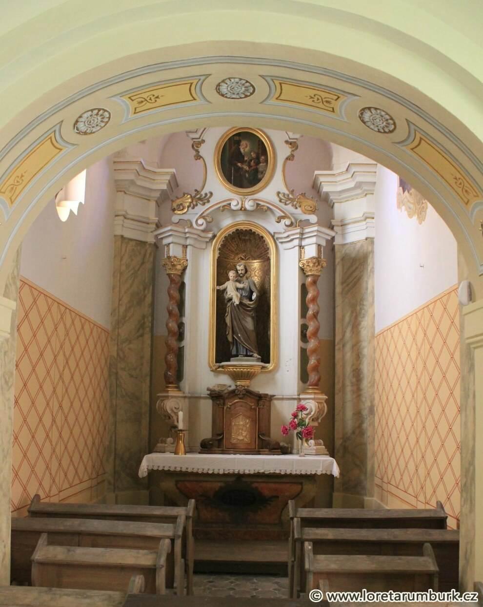 5, Loreta Rumburk, kaple sv Josefa, stav po restaurování, 17 10 2014, foto Klára Mágrová