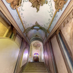Loreta Rumburk. Kaple Svatých schodů v Rumburku. Pravé postranní schodiště. Foto Jiří Stejskal