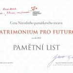 Loreta Rumburk_Nominace Patrimonium pro futuro 2013