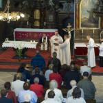 Interiér kostela sv. Vavřince v Rumburku. Bohoslužba s litoměřickým biskupem Mons. Janem Baxantem. Foto Jiří Stejskal