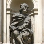 Loreta Rumburk. Socha proroka Daniela z vnější výdoby loretánské kaple. Foto Jiří Stejskal