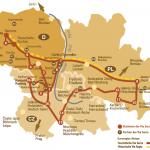 Via Sacra - mapa