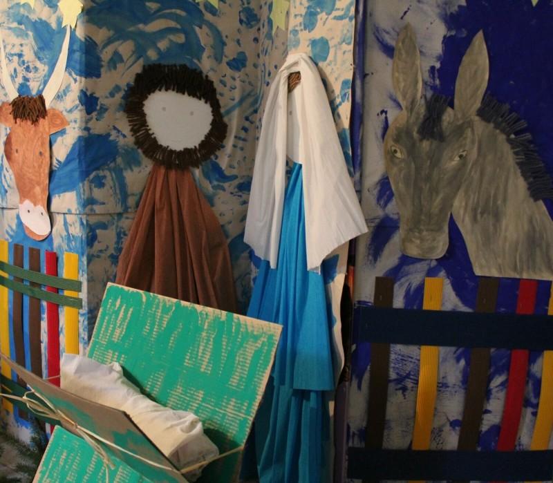 výstava Dětských betlémů, autor betlému MC Koťátko a MC Větrník 2013, foto Klára Mágrová