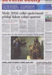MF DNES, Loreta ukrývala díla starší než je ona sama, 28 1 2013, B1