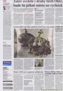 2MF DNES, Loreta ukrývala díla starší než je ona sama, 28 1 2013, B2