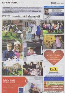Děčínský deník, 17 9 2013, Loretánské slavnosti 2013