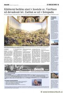 Děčínský deník, 21, 11, 2013, SV, klášterní betlém v rumburku