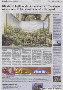 Děčínský deník, Betlém v kostele sv Vavřince, 21 11 2013, s 5