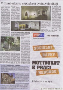 Děčínský deník, Expozice a výstavy v Loretě Rumburk, 16 10 2013, s 5