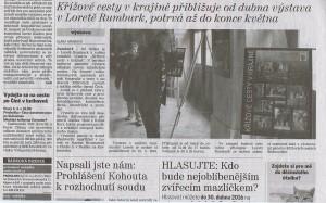 Děčínský deník, Křížové cestě v krajině přibližuje výstava v Loretě Rumburk, 2 4 2016, s 2