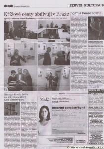 Děčínský deník, Křížové cesty v Praze, 5 11 2012, s 9