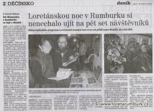 Děčínský deník, Loretánská noc 2015 v Rumburku, 19 5 2015, s 2