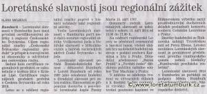 Děčínský deník, Loretánské slavnosti jsou regionální zážitek, 2 6 2014, s 2