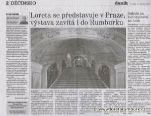 Děčínský deník, Loreta se představuje v Praze, 14 5 2015, s 2