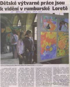 Děčínský deník, Výstava ZUŠ Rumburk, 29 6 2009
