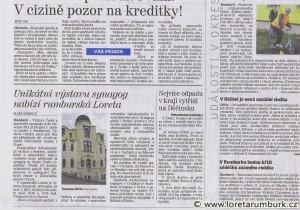 Děčínský deník, Výstava o synagogách, 4 6 2011, s 3