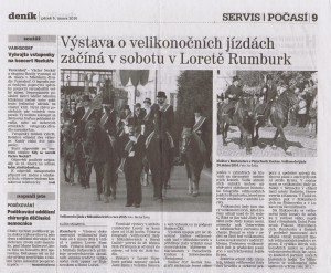 Děčínský deník, Výstava o velikonočních jízdách začíná v sobotu v Loretě Rumburk, 5 2 2016, s 9