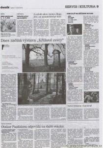 Děčínský deník, Zahájení výstavy Křížové cesty Šluknovska, 1 4 2011, s 9