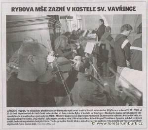 Děčínský deník, návrat Rybovy České mše do Rumburku, 21 9 2009, s 9