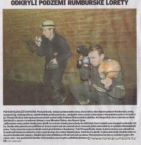 Děčínský deník, průzkum loretánského podzemí, 20 2 2008
