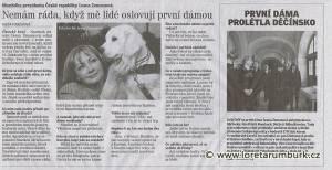 Děčínský deník_Návštěva Ivany Zemanové v Loretě Rumburk_4 2 2015_s 2