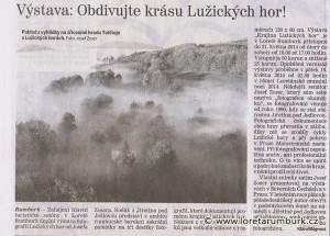 Děčínský deník_výstava Krajina Lužických hor_4 4 2014_s 5
