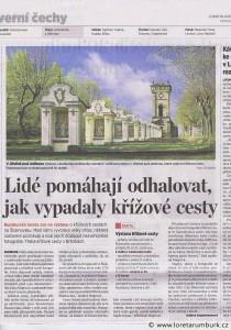 MF DNES, Křížové cesty Šluknovska, 10 5 2011, B4