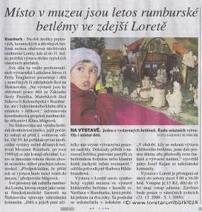 MF DNES, Výstava betlémů v Loretě Rumburk, 15 12 2008, s D2