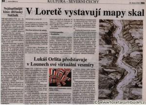 MF Dnes, Výstava starých map Českého Švýcarska 2, 16 2 2010