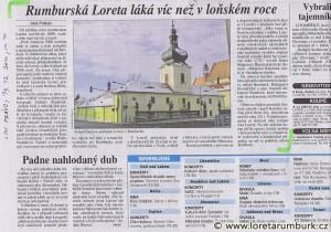 Právo, Návštěvnost v Loretě Rumburk v roce 2009, 13 12 2010