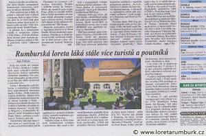 Právo, Návštěvnost v Loretě Rumburk v roce 2011, 25 1 2012, s 11