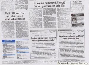 Právo, Obnova Lorety Rumburk, 28 6 2010, str 9
