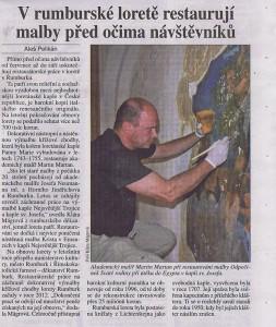 Právo,V rumburské Loretě restaurují malby,14 8 2014,s13