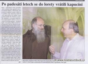 Rumburské noviny, Návrat kapucínů do Lorety Rumburk, 3 5 2007, s 1