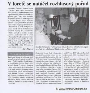 Rumburské noviny, V Loretě se natáčel rozhlasový pořad, 12 3 2009, s 7