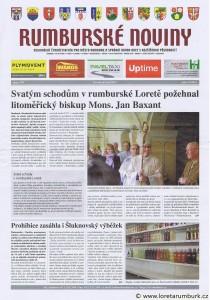 Rumburské noviny, požehnání Svatých schodů, Loretánské slavnosti, 20 9 2012, 17, 2012, s 1