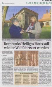 Saechsische Zeitung, Oslavy 300 let Lorety Rumburk, 17 4 2007, s 6