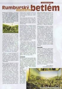 Časopis Zdislava, Klášterní betlém v Rumburku, č 10/2010, str 9