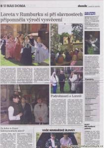 Děčínský deník, Loretánské slavnosti, 23 9 2010, str 8
