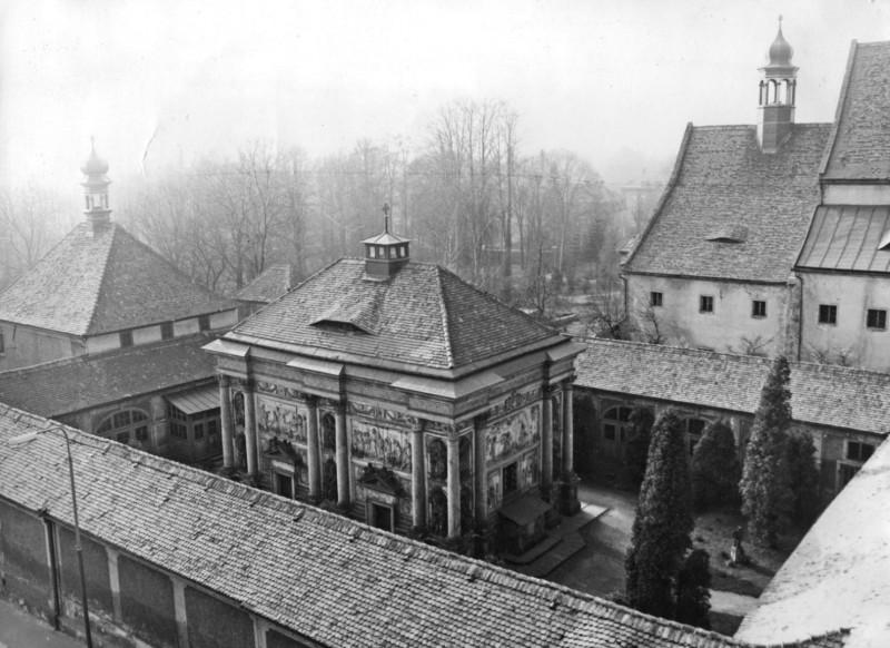 Loretánská kaple v Rumburku v roce 1970. Archiv Oblastní muzeum Děčín. Foto Vladimír Širlo