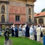 Loreta Rumburk při slavnosti Porciunkule před scénou Zvěstování Panně Marii, foto Jiří Stejskal